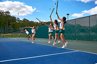 GIRLS TENNIS WARM UPS 10-5-15