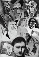 Faces Picasso BW 13x19 sign2