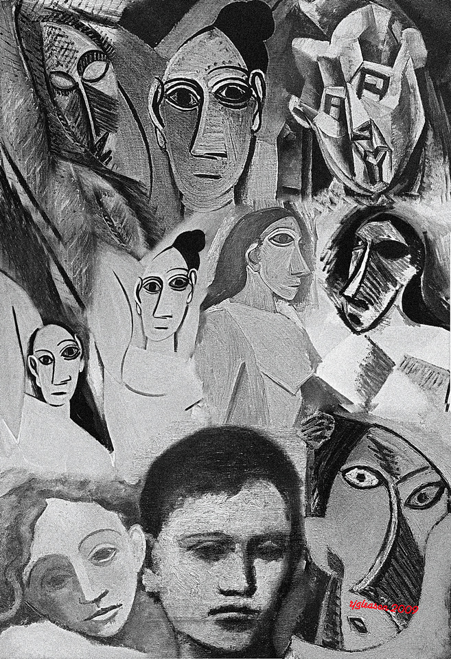 """""""FACES OF PICASSO""""  From selections at the Museum of Modern Art, New York City"""
